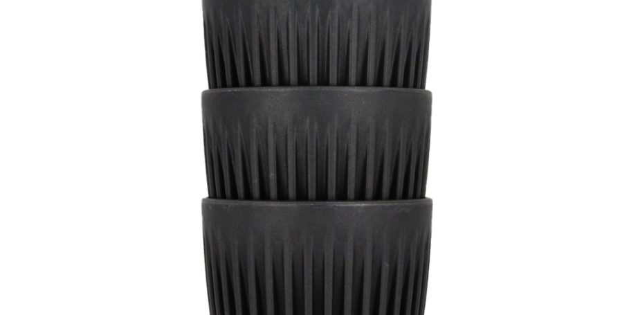 HuskeeCup 4-pack . Charcoal 8oz.