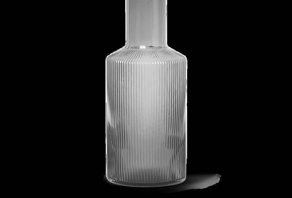 Ferm Living smoky grey glass carafe