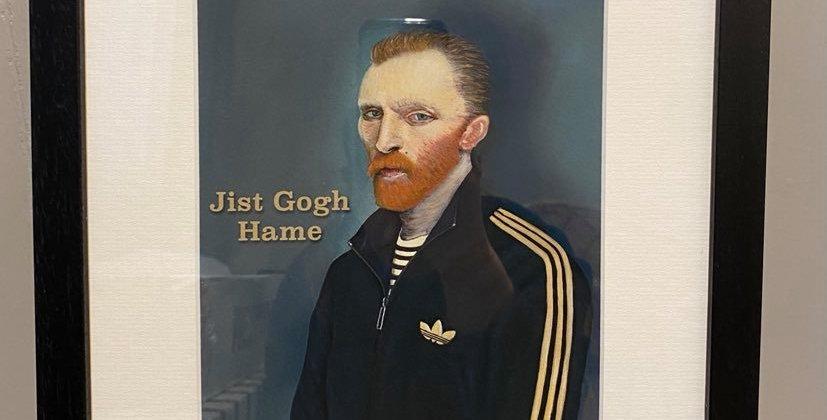 Ross Muir Jist Gogh Hame Framed Print with Mount