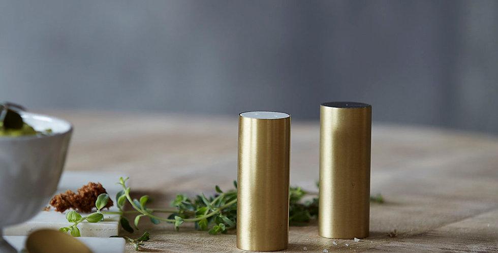 House Doctor Brass Salt & Pepper Shakers