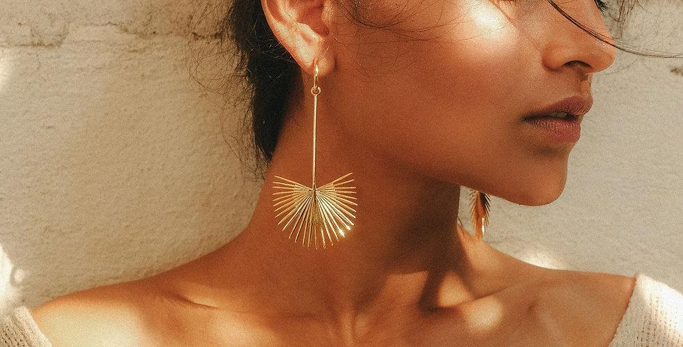 Rachel Entwistle gold Ishtar earrings