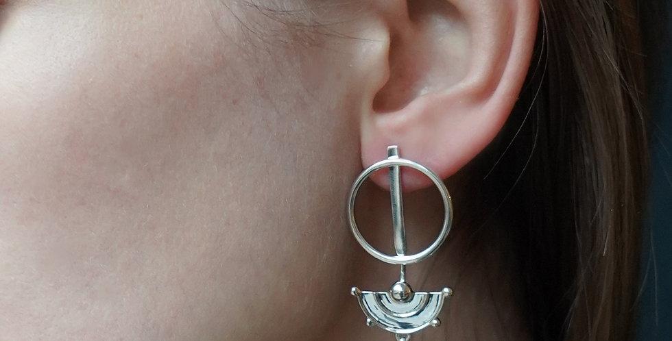 Rachel Entwistle silver Celestial ear jacket