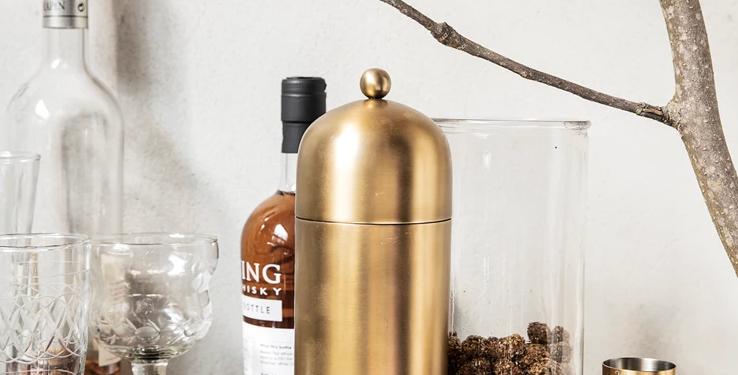 House Doctor Alir Brass Cocktail Shaker