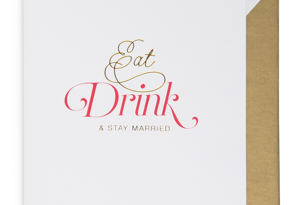 Cardsome Eat, Drink, & Stay Married