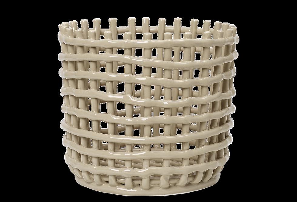 Ferm Living Large Ceramic Basket - Cashmere