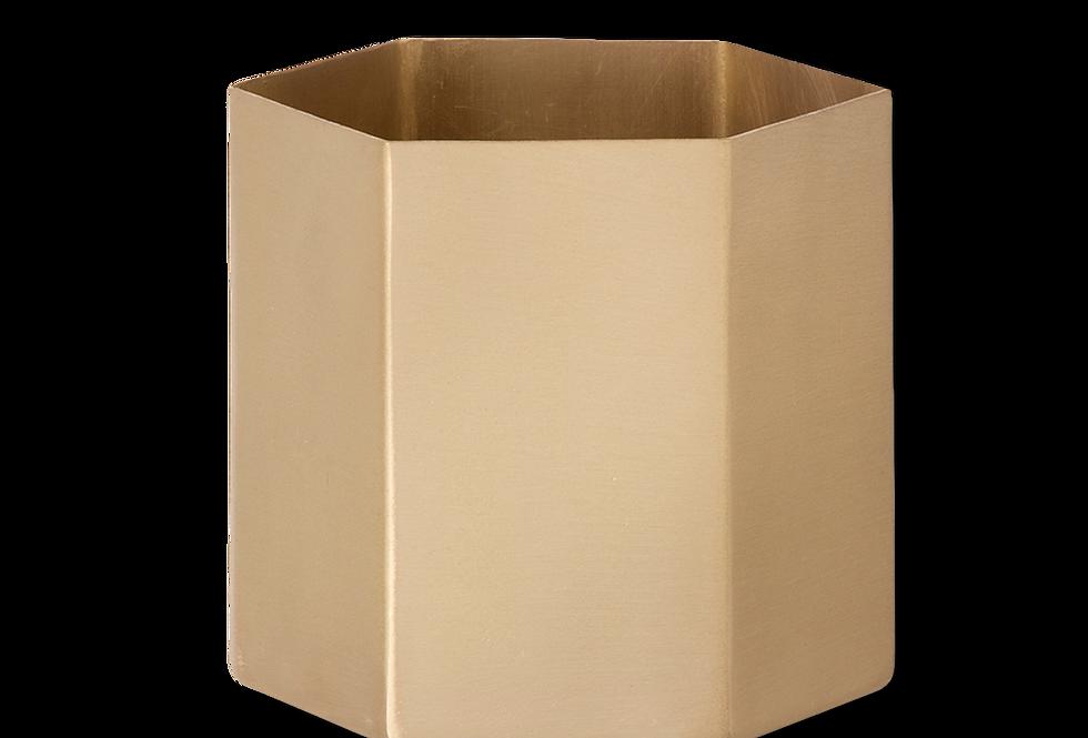Ferm Living brass hexagon pot XL