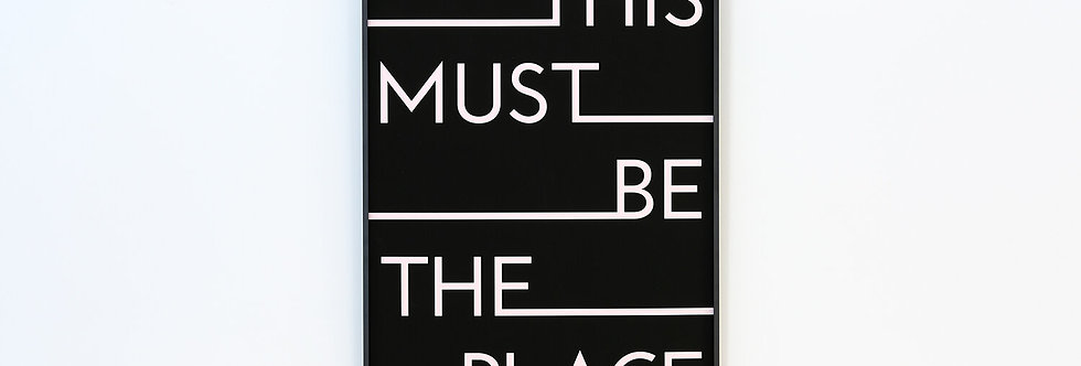 We Are Amused - This Must Be The Place Framed Print