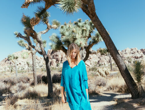 A Perfect Nomad silk turquoise kaftan