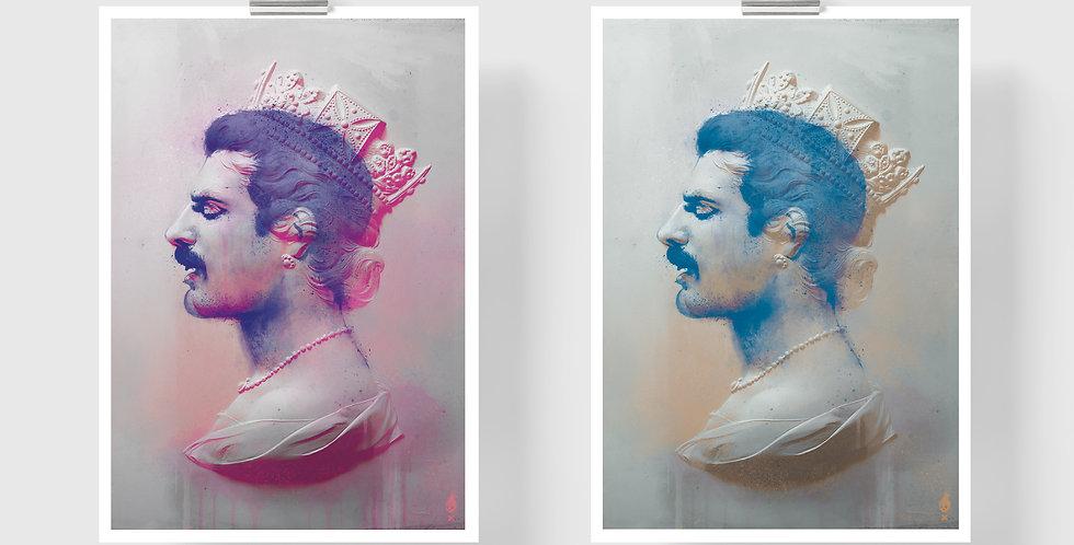 Tiny Riot Killer Queen Freddie Print (unframed)
