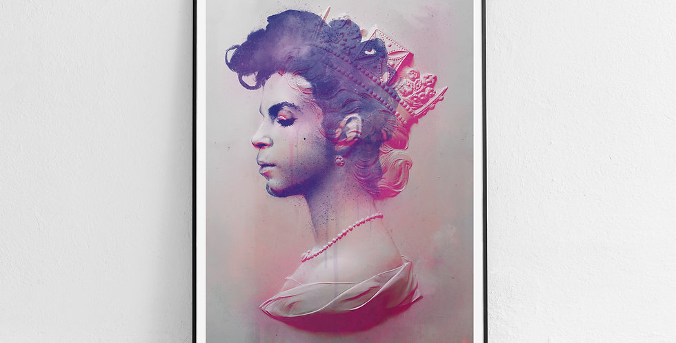 Tiny Riot Purple Reign Pink Framed Prince Print