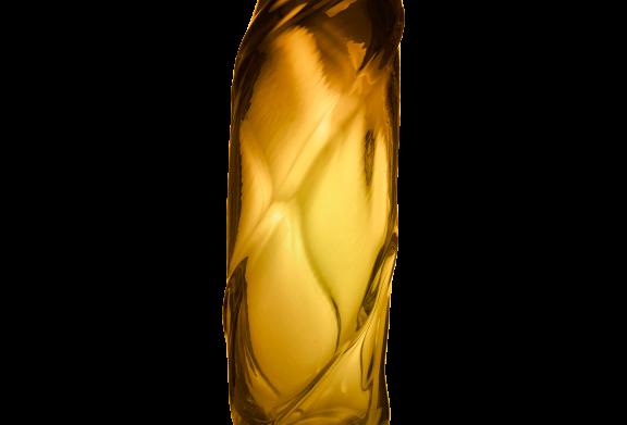 Ferm Living Water Swirl Vase - Amber