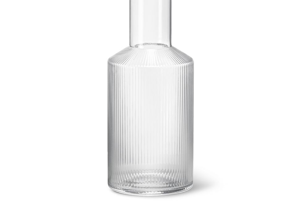 Ferm Living clear glass carafe