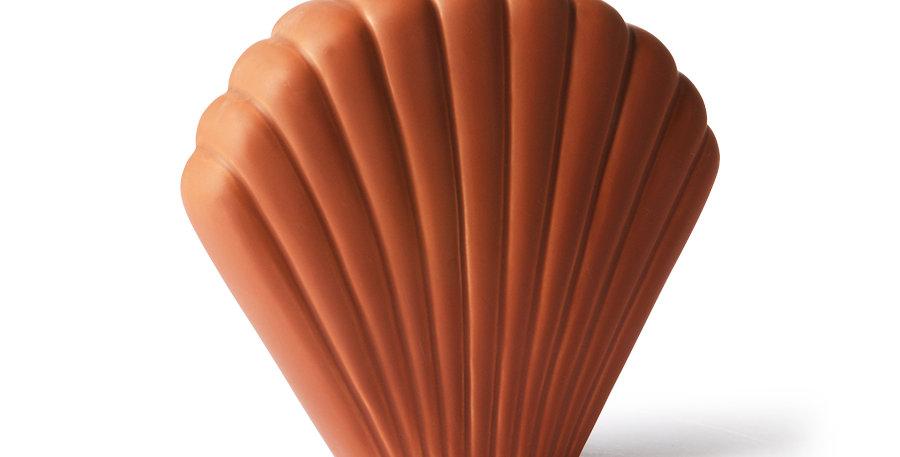 HK Living Ceramic Shell Vase Terra