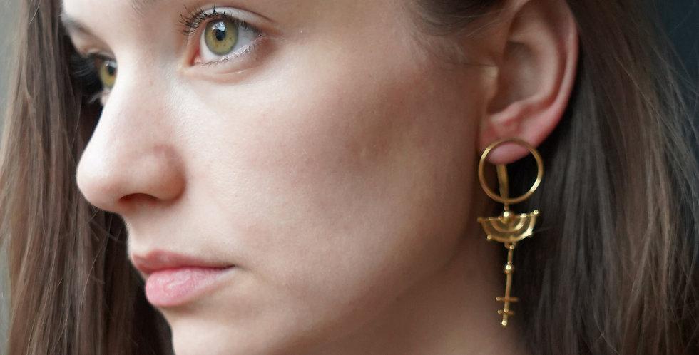 Rachel Entwistle gold celestial ear jacket