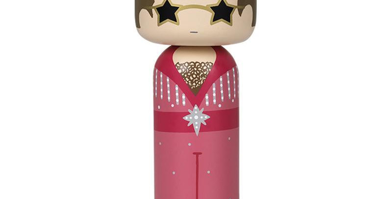 Lucie Kaas Kokeshi Doll - Elton In Pink