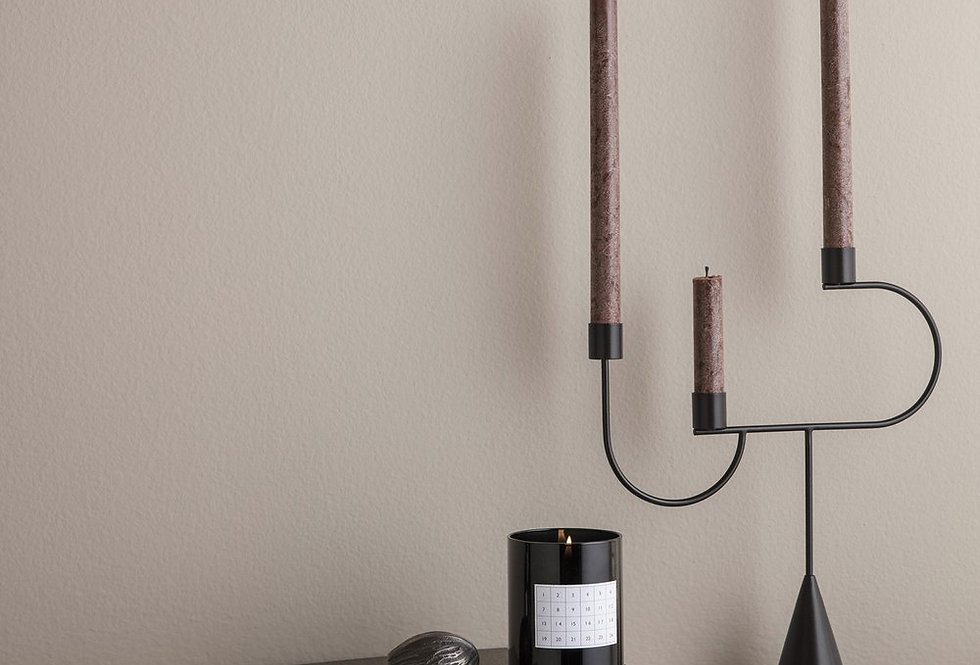 Ferm Living red brown uno candle