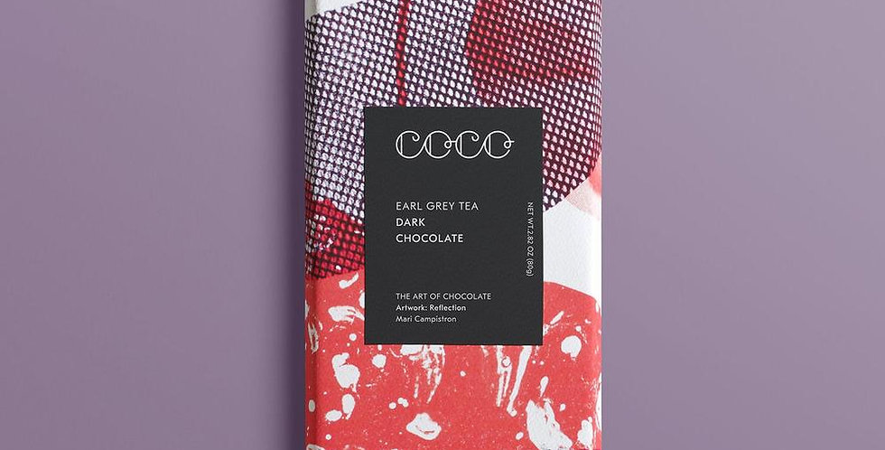 Coco Chocolatier Earl Grey Dark Chocolate Bar 80g
