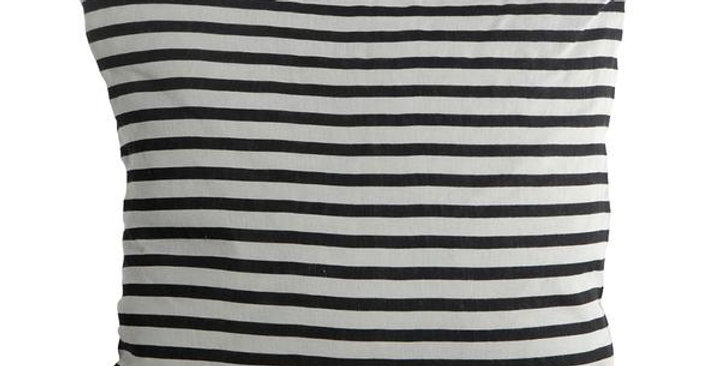 House Doctor Black and Whited Striped Cushion