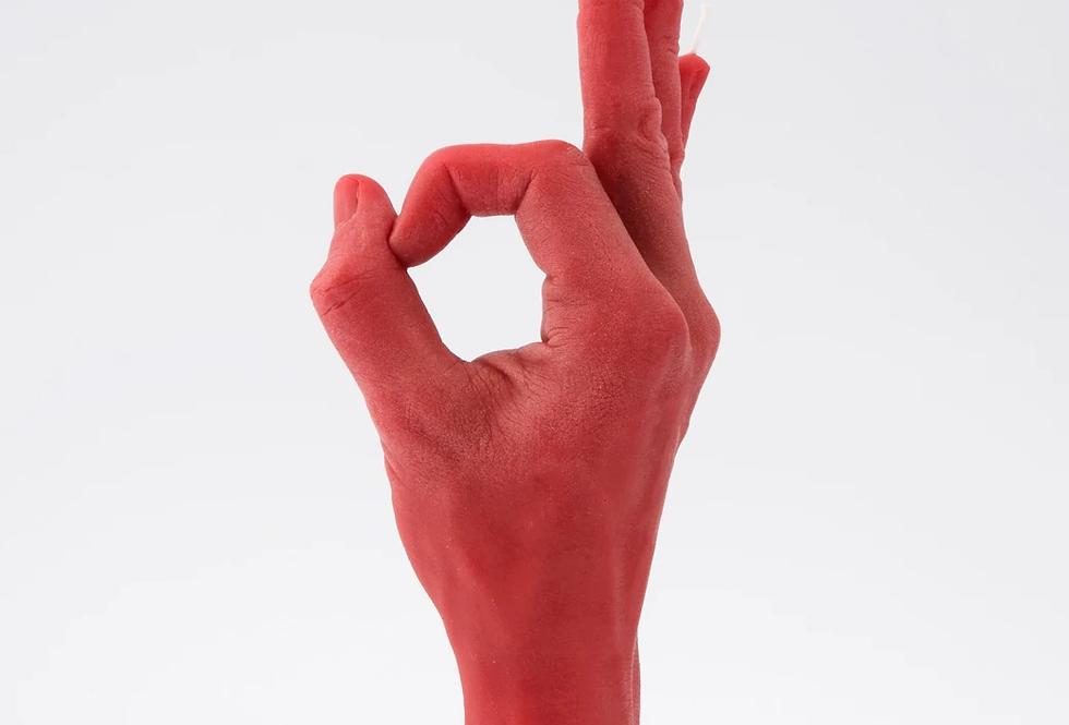 CandleHand OK - Hand Gesture