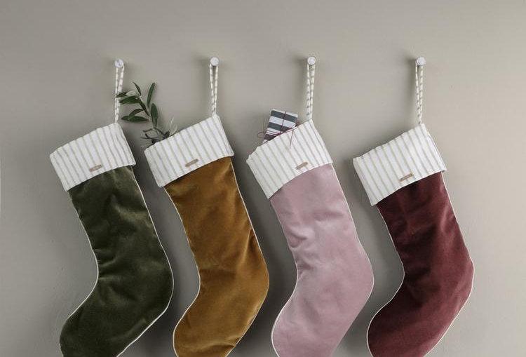 Ferm Living Christmas Velvet Stocking