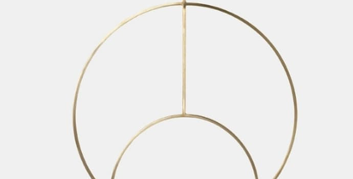 Hanging Brass Deco Tealight Holder - Circular