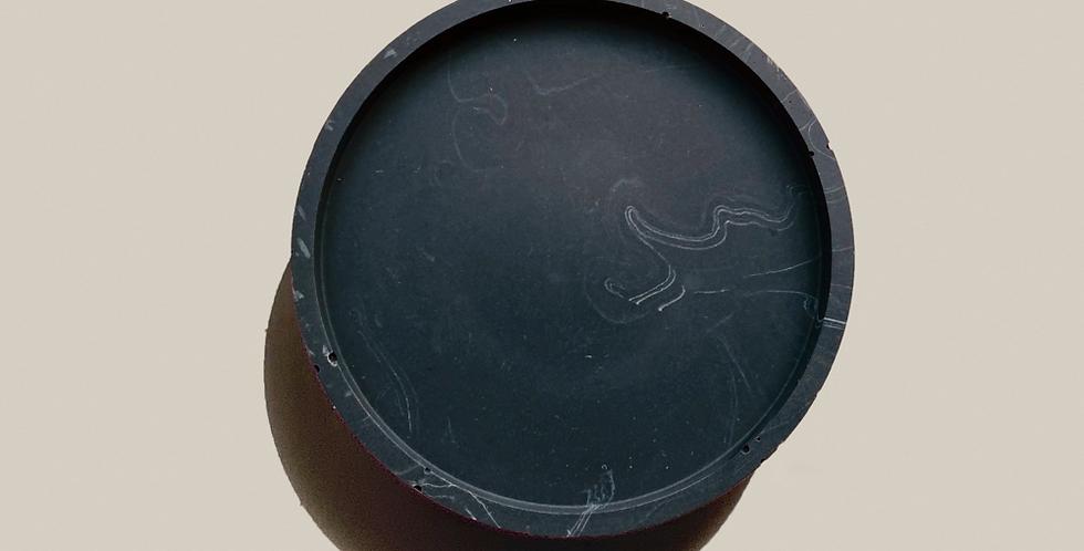 Marble Round Tray - Black