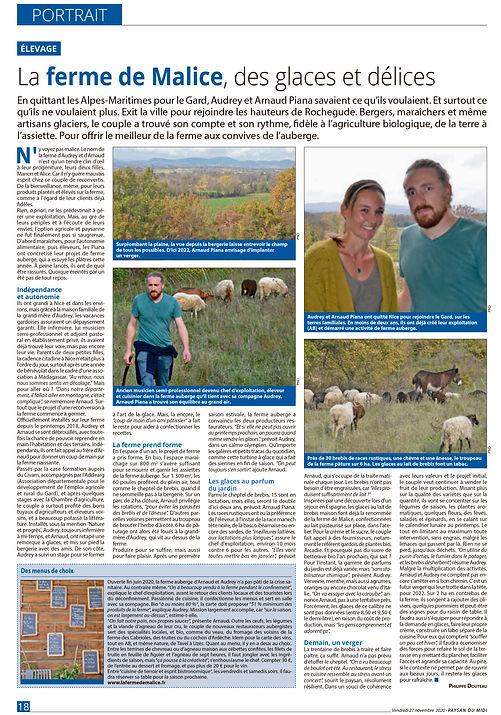 Ferme de Malice Gard portrait Paysan du Midi