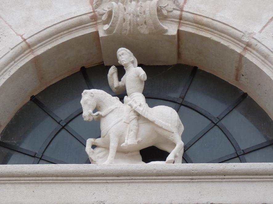 statue du porche