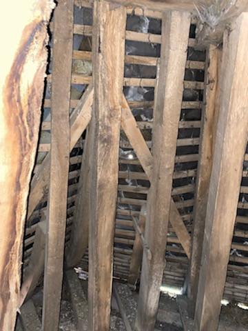 Solives de la toiture du clocher