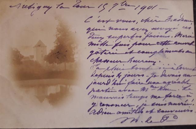 1901 Carte postal FM