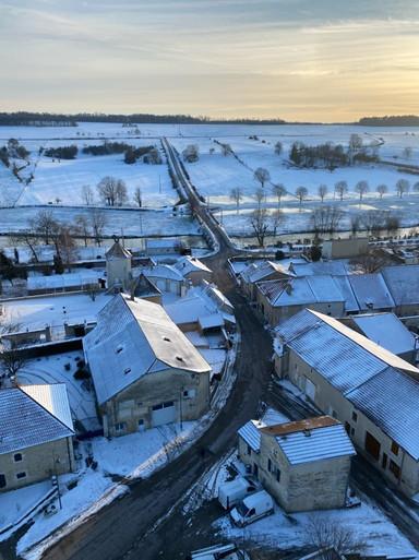 vue du clocher entrée du village