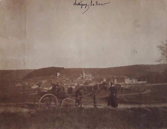 Calèche hauteur Autigny vers 1890