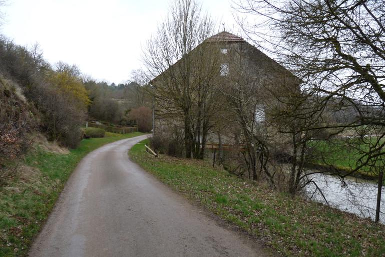 en approche du moulin