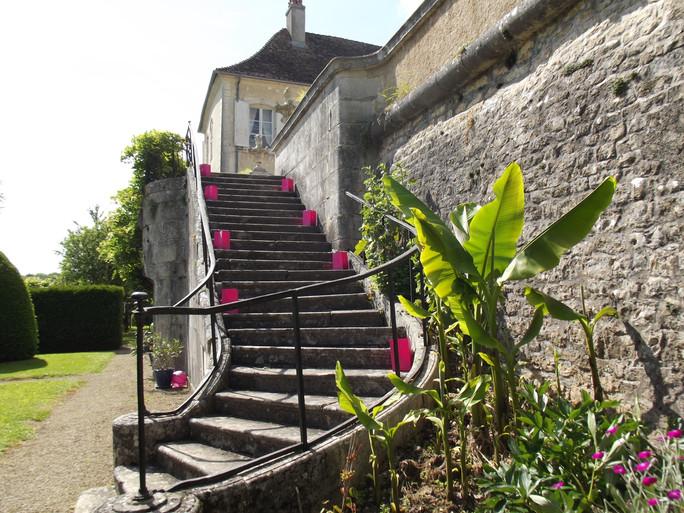 escalier orné