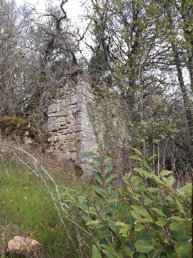 Ruine du moulin du haut vue ensemble