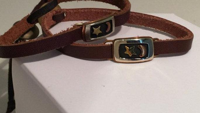 Star & Moon Leather Bracelets