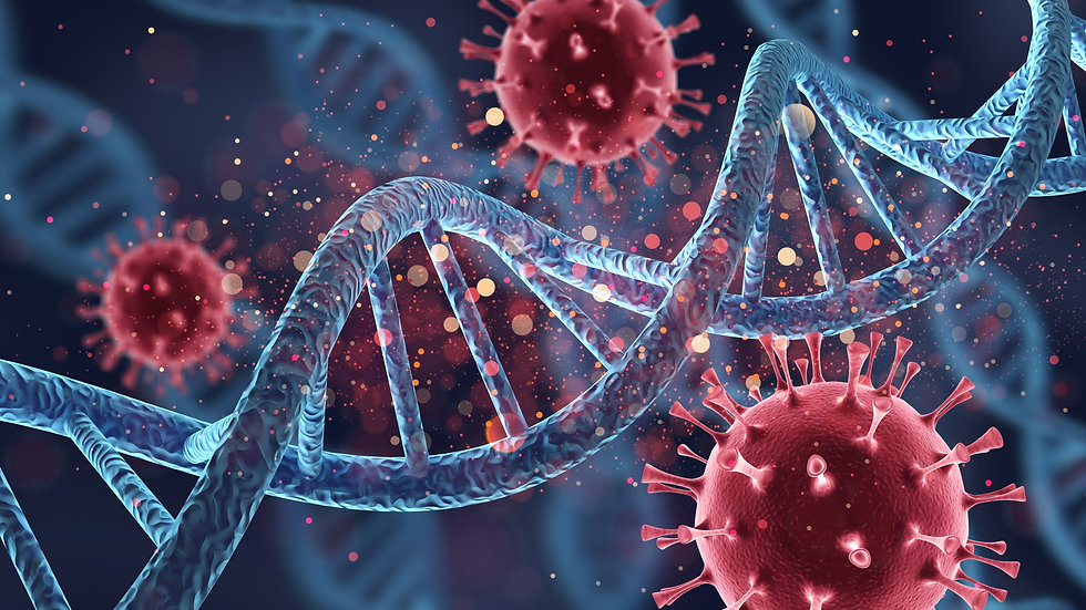 Human cell biology DNA strands and virus