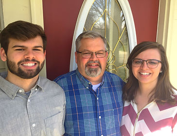 Jeff Fix with his son, Tanner and his daughter, Jessica