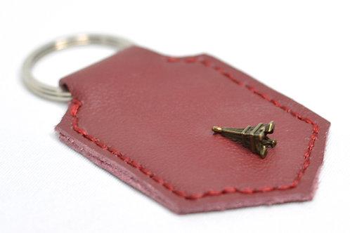 Eiffel Handstitched Leather Keyring
