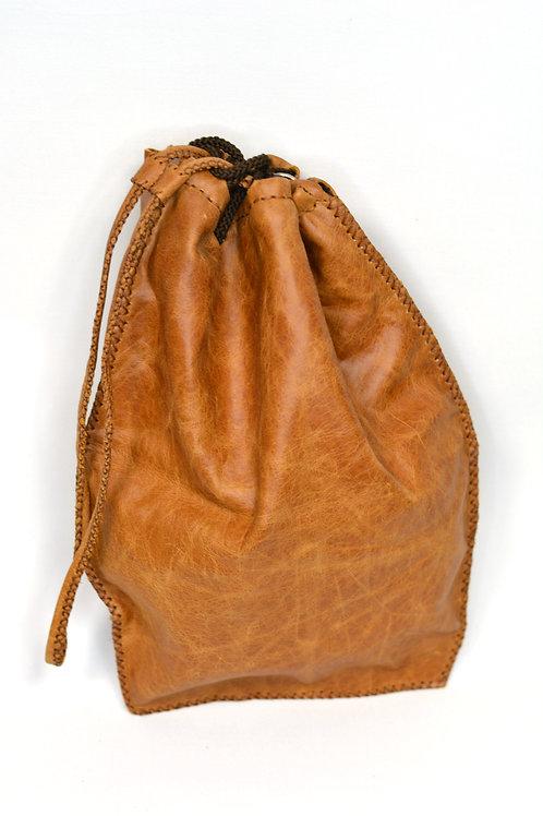 Handstitched Leather Bucket Bag