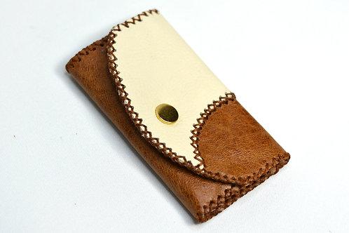 Handstitched Leather Key Holder Wallet/Key Case Tan