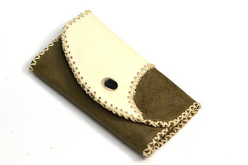 Handstitched Leather Key Holder Wallet/Key Case Olive