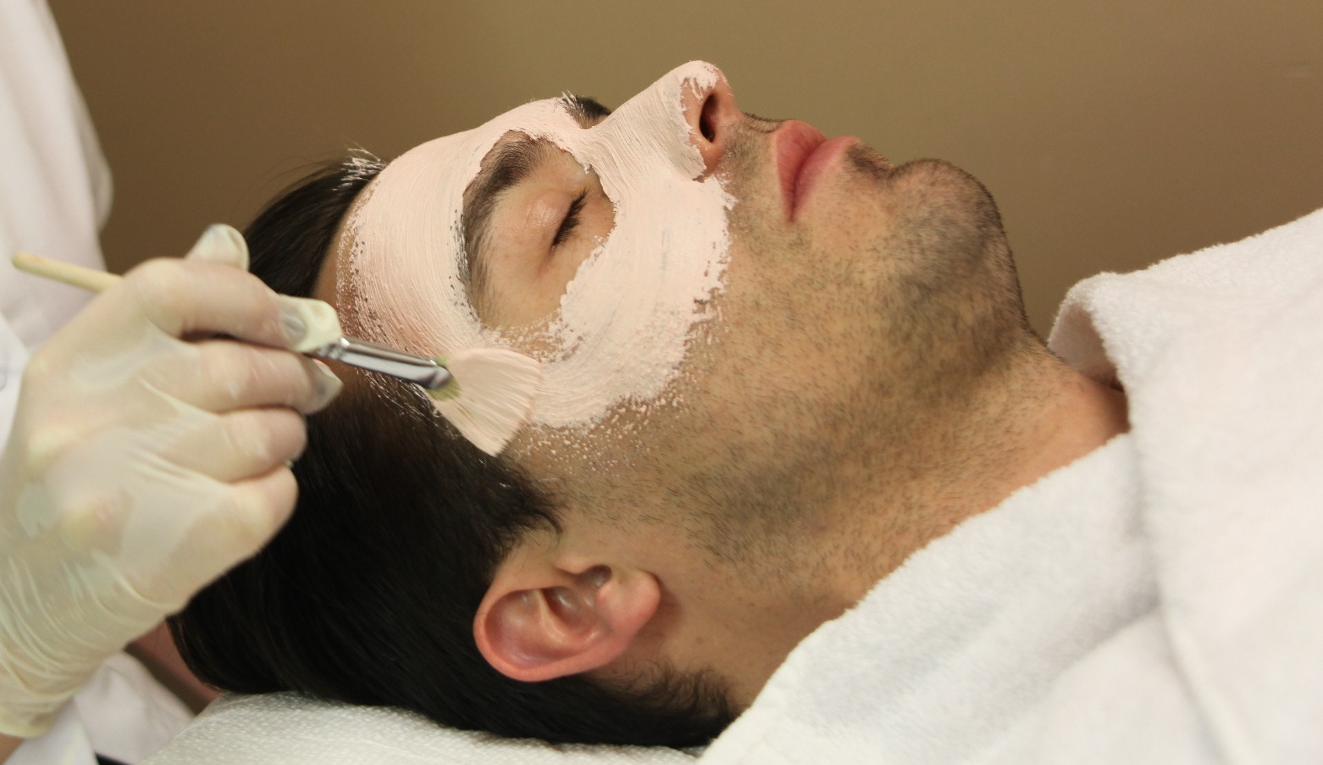 Men's face mask, facial cleansing
