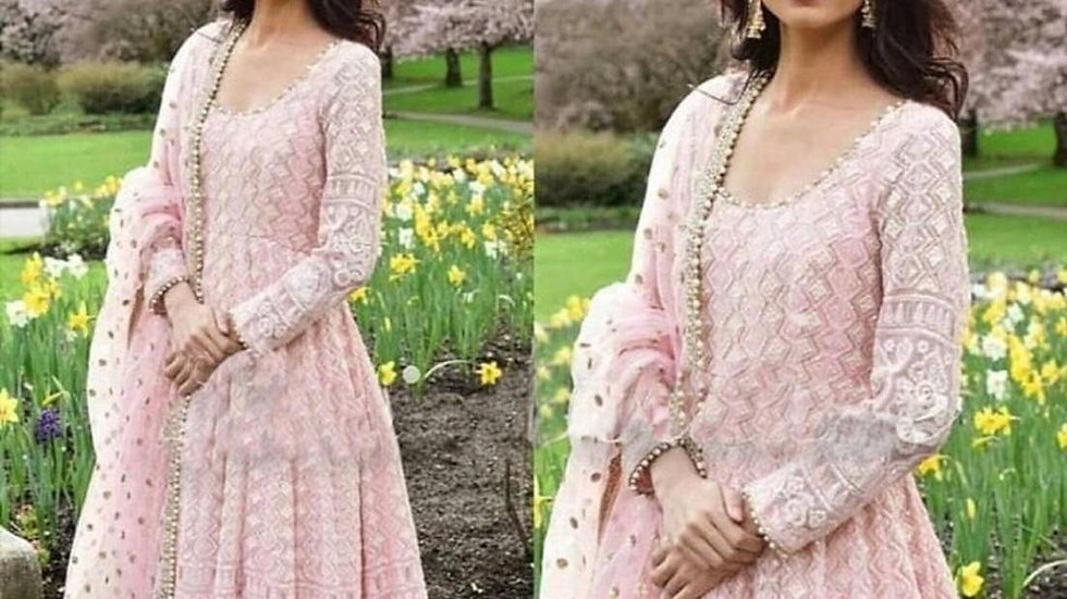 pink embroidery Gown SDS