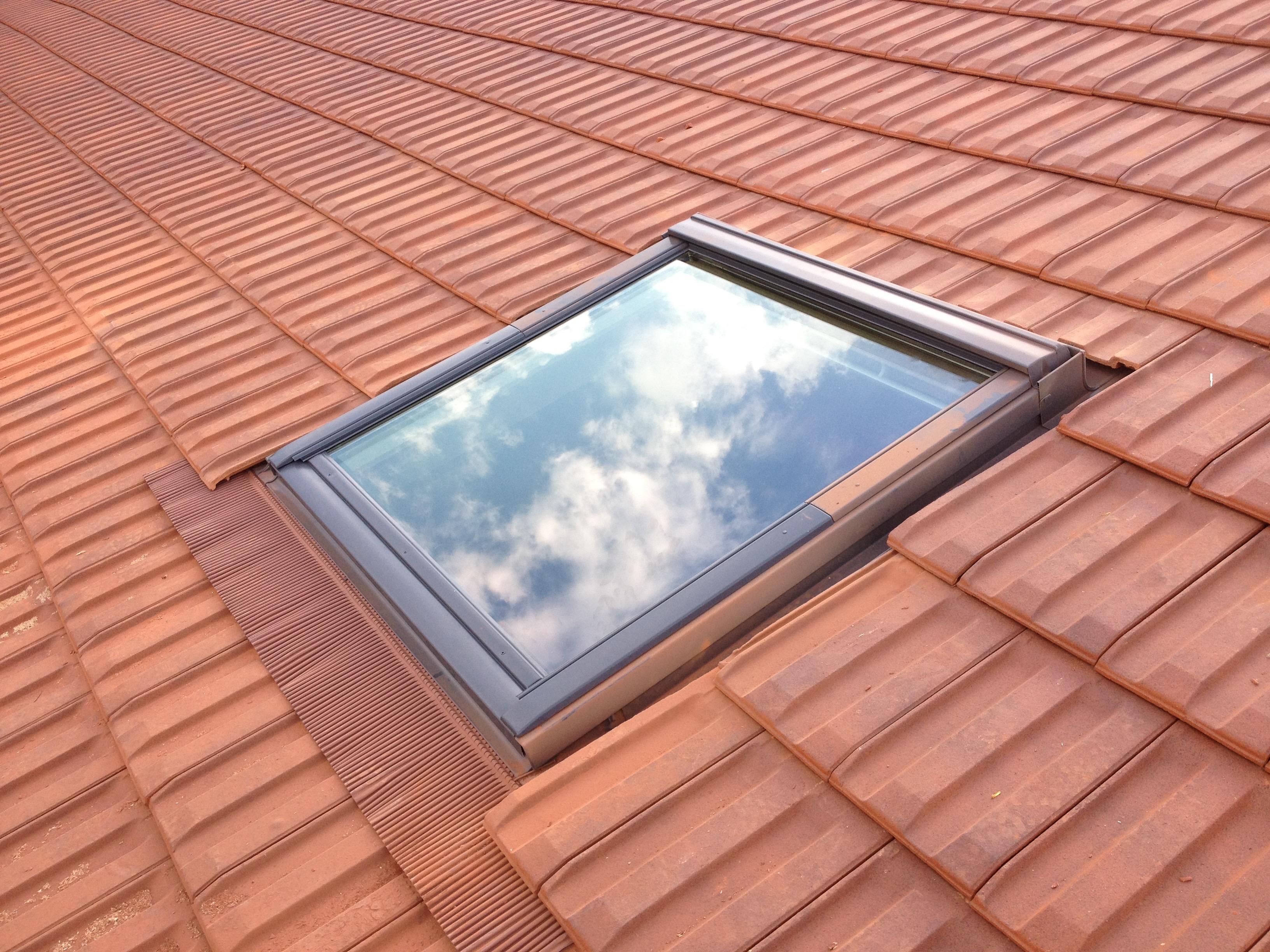 pose de velux sur toiture