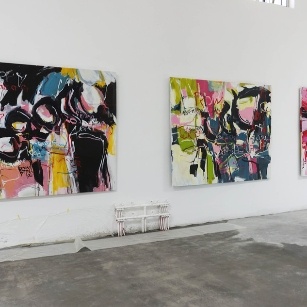Exposition à Yukou, International Art district, Shaanxi, Chine, 200cm x 250cm x 3