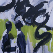 190cm x 120cm collage et peinture sur toile