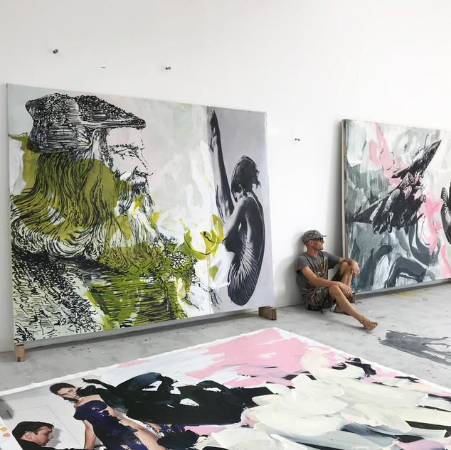 200cm x 250cm x 2, Yukou, International Art district, Shaanxi, Chine