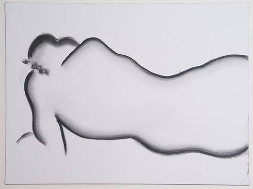 Reclining Nude - Oil on Canvas