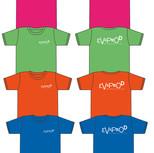 T-shirt couleur enfant unisexe logo Evaprod blanc